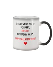 Valentine Day I Just Want You To Be Happy   Color Changing Mug thumbnail