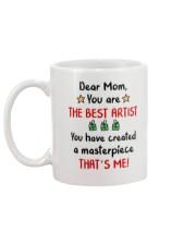 Dear Mom You Are The Best Artist Mug back