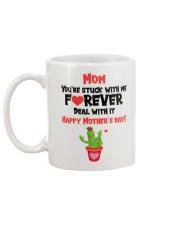 Mom Stuck With Me Forever Mug back