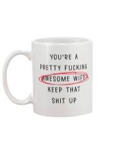 Pretty Awesome Wife Mug back