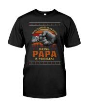 Papa Priceless Ugly Sweater Classic T-Shirt thumbnail