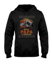 Papa Priceless Ugly Sweater Hooded Sweatshirt thumbnail