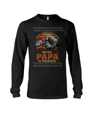 Papa Priceless Ugly Sweater Long Sleeve Tee thumbnail