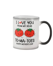 My Head To-ma-toes Color Changing Mug tile
