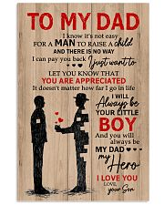 To My Dad My Hero 11x17 Poster front