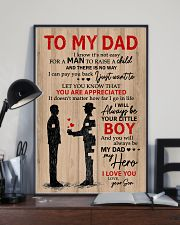 To My Dad My Hero 11x17 Poster lifestyle-poster-2