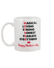 Mom Adjectives Mug back