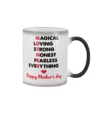 Mom Adjectives Color Changing Mug tile