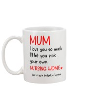 Mum Nursing Home Mug back