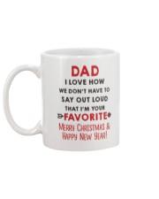 Dad Say Out Loud Xmas Mug back