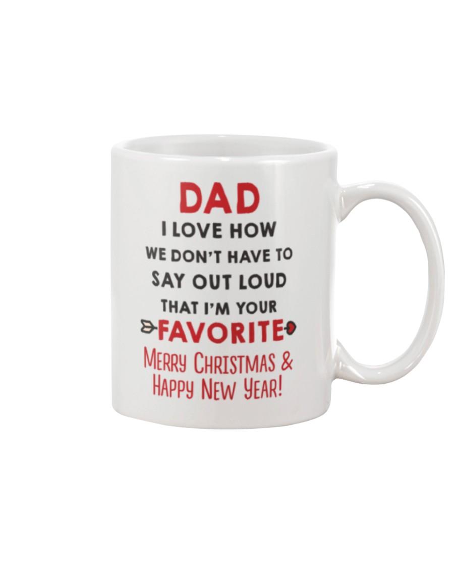 Dad Say Out Loud Xmas Mug