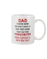 Dad Say Out Loud Xmas Mug front
