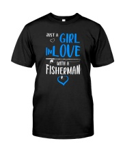 Girl In Love With A Fisherman  Classic T-Shirt front