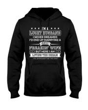 Lucky Marrying Perfect Freakin' Wife Hooded Sweatshirt thumbnail