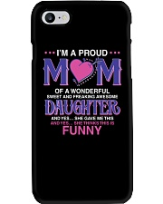 Proud Mom Of Sweet Awesome Daughter Phone Case thumbnail