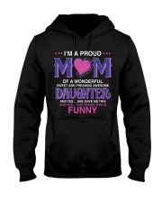 Proud Mom Of Sweet Awesome Daughter Hooded Sweatshirt thumbnail