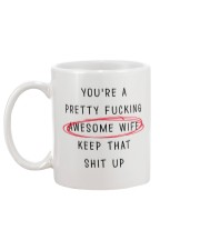 Pretty Awesome Wife Mug back