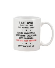 Simply Superb Like Daughter Mug front