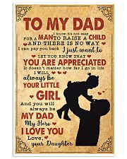 To My Dad 11x17 Poster front