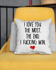 """Love You The Most The End Fucking Win Indoor Pillow - 16"""" x 16"""" aos-decorative-pillow-lifestyle-front-01"""