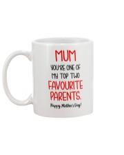 Top Two Favourite Parents Mug back