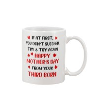 Try Again From Third Born Mug front