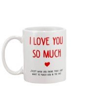 Love So Much Except Snore Mug back