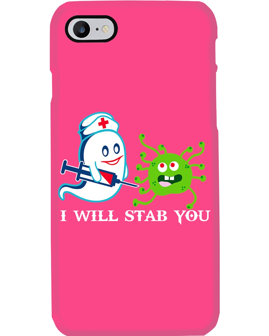 i will stab you Phone Case