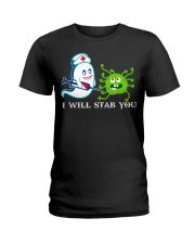 i will stab you Ladies T-Shirt thumbnail