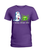 i will stab you Ladies T-Shirt tile