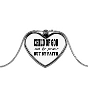 CHild Of God Metallic Heart Necklace front