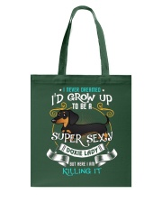 Super Sexy Doxie Lady Tote Bag thumbnail