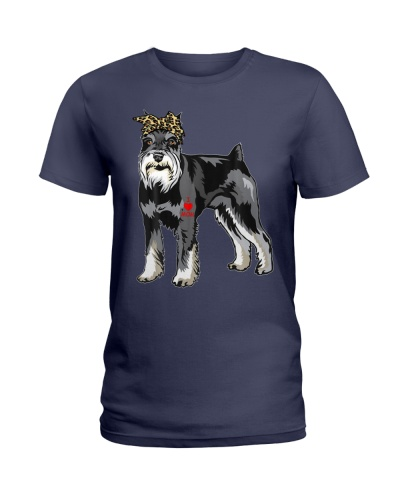 I Love Mom Schnauzer With Tattoo Mothers day