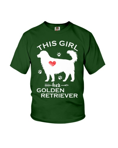 This Girl Loves Her Golden Retriever Puppy Dogs