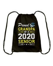 Proud Grandpa Of A 2020 Senior Graduation Drawstring Bag thumbnail