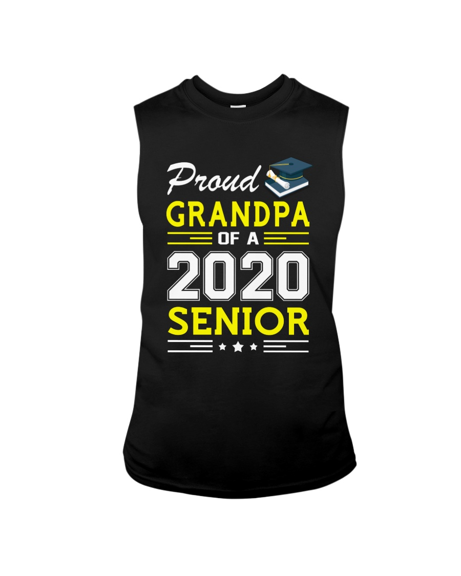 Proud Grandpa Of A 2020 Senior Graduation Sleeveless Tee