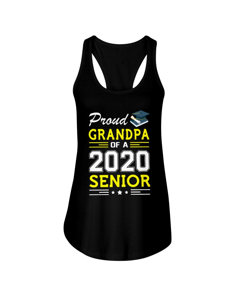 Proud Grandpa Of A 2020 Senior Graduation Ladies Flowy Tank