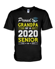 Proud Grandpa Of A 2020 Senior Graduation V-Neck T-Shirt thumbnail