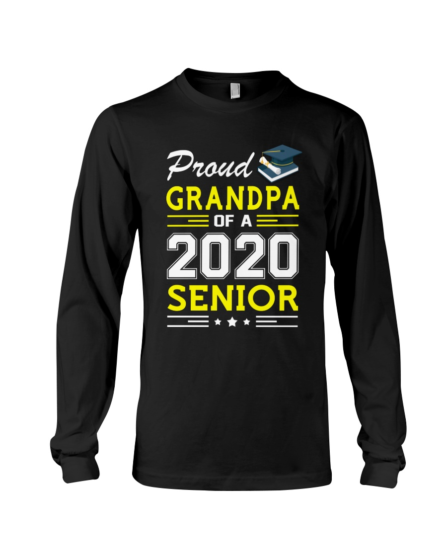 Proud Grandpa Of A 2020 Senior Graduation Long Sleeve Tee