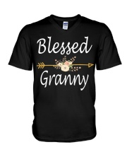 Blessed Granny Mothers Day Gifts  V-Neck T-Shirt thumbnail