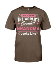What Worlds Greatest Grandma Looks Like Classic T-Shirt front