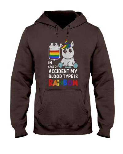 In case of accident my blood type is rainbow