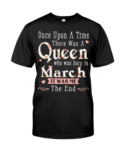 A Queen Was Born In March Birthday Women Once Upo