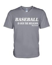 baseball is our the religion t shirt V-Neck T-Shirt thumbnail