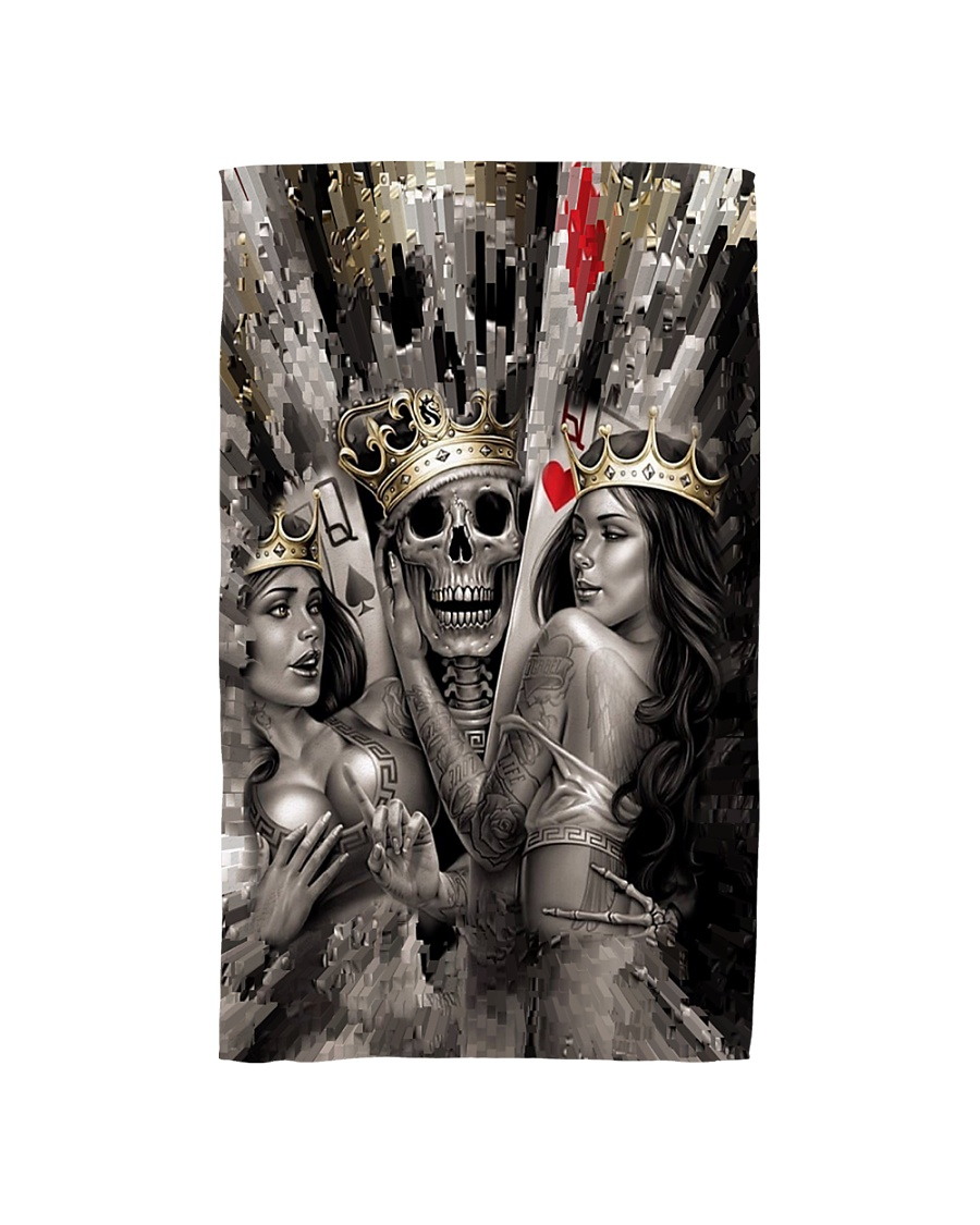 Poker Skull King and Queens Hand Towel