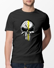 Thin Yellow Line Skull T-shirt Classic T-Shirt lifestyle-mens-crewneck-front-13