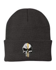 Thin Yellow Line Skull T-shirt Knit Beanie thumbnail
