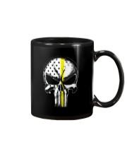 Thin Yellow Line Skull T-shirt Mug thumbnail