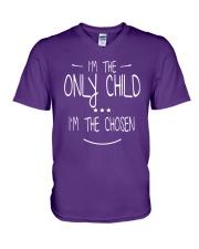 only child V-Neck T-Shirt front