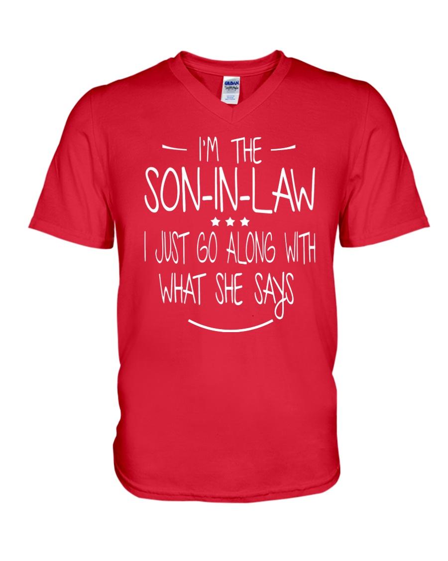 son in law V-Neck T-Shirt